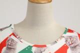 Vintage Skaterkleid mit Weihnachtsmotiv und Ärmeln