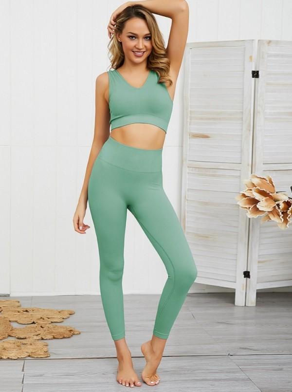 Sexy Yogaweste und Leggingset