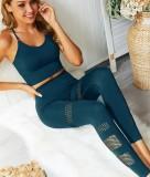 Sexy aushöhlen yoga weste und legging set