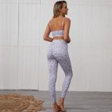Drucken Sexy Yoga-BH und Leggingset