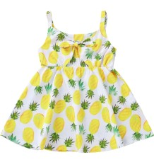 Платье для девочек с ремешками с принтом Kids Girl