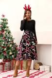 Weihnachten Vintage Skater Kleid mit Ärmeln