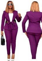 Offical Women Long Sleeve Blazer and Pants Suit