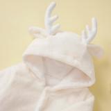 Mamelucos de alce de felpa blanca navideña Baby Boy