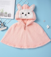 Baby Girl Pink Plush Cape