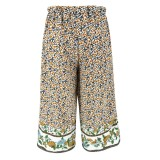 Sommer Floral hohe Taille A-Linie langer Rock
