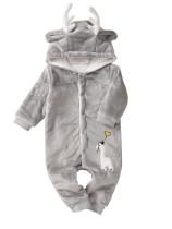 Baby-Weihnachtsgrauer Plüsch-Elch-Spielanzug