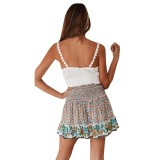 Sommer Floral hohe Taille A-Linie Rock