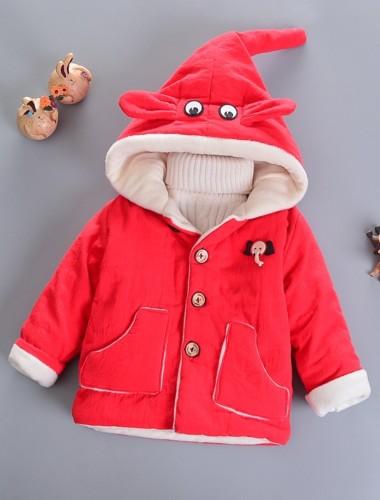 Chaqueta con capucha acolchada con estampado de invierno para niños
