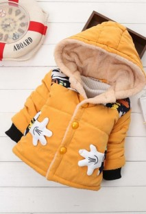 Kids Boy Winter Print Padded Hoody Jacket