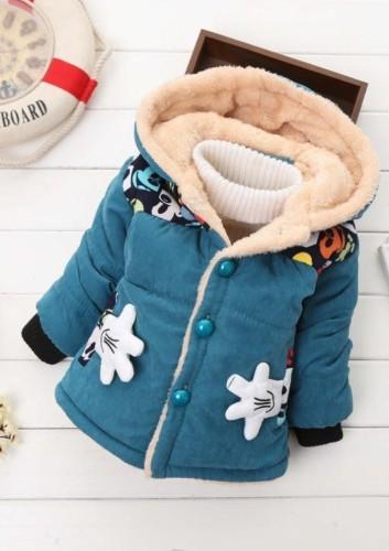 Casaco com capuz acolchoado com capuz para crianças e inverno para menino