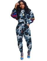 Afdrukken Camou Sweat Suit met lange mouwen