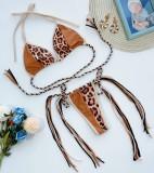 Sexy leopard saiten tanga badebekleidung