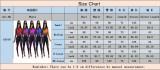 Sexy Kontrast-Bodycon-Overall mit langen Ärmeln