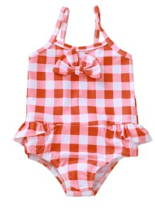 Kinder Mädchen Plaid One Piece Bademode