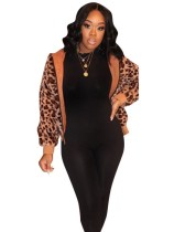 Veste à capuche imprimée léopard