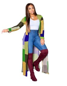 Colorful Slit Long Cardigans