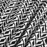 Kollu Beyaz ve Siyah Yazdır Vintage Midi Elbise