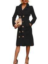 Vestido elegante occidental con mangas largas