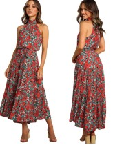 Floral Print Scoop Long Summer Dress