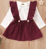 Топ с длинными рукавами и юбками-нагрудниками Kids Girl