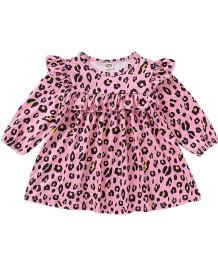 Vestido infantil com estampado infantil menina com mangas
