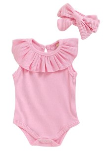 Baby Girl Summer Ruffle Rompers