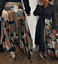 Camou print hippie broek met hoge taille