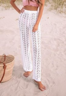 Summer Crochet Hollow Out Beach Pants