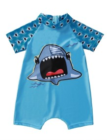 Kids Boy Print One Piece Surfing Rompers