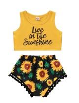 Укороченный топ с цветочным принтом Kids Girl и шорты с цветочным принтом