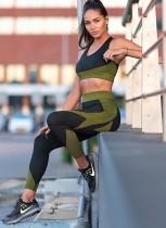 Kontrast-Yoga-BH und Leggingset
