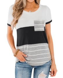 Summer O-Neck Contrast Shirt
