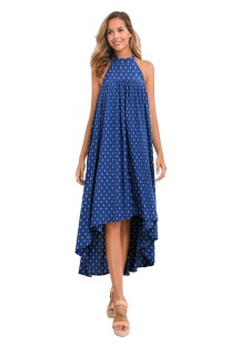Print High Low Summer Scoop Kleid