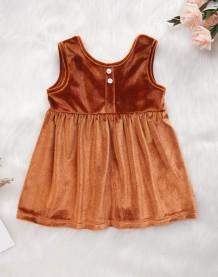Детское бархатное платье без рукавов