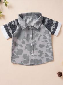Camiseta de verano con estampado de camuflaje para niños