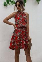 Vestido Curto Estampa Floral com Estampa Floral