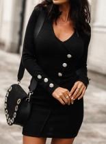 Sexy Long Sleeve Knitted Mini Dress