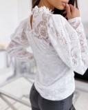 Basic basic witte top met bloemenprint