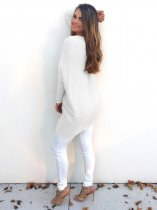 V-Neck White Sweaters 22645-4