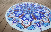 Crazy Hottest Round Hippie Tapestry Beach Throw Chiffon Round Beach Towel 21119-6
