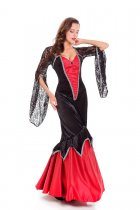 Black and Red Mermaid Queen Dress 27342