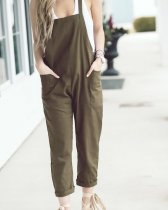 Army Green Lazy Bib Pants