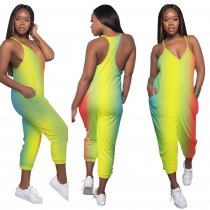 Sports Gradient Straps Jumpsuit