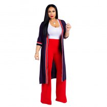 Three-Piece Contrast Pants Set