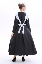 Long Sleeve French Maid Long Dress Halloween Costume