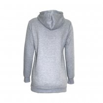 Long Sleeve Blank Grey Hoody