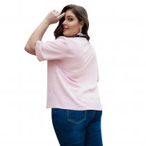 Plus Size Pink Ties Blouse