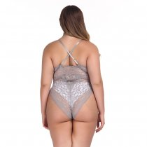 Plus Size Sexy Lace Teddy Lingerie
