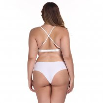 Plus Size White Lace Bra and Panty Set